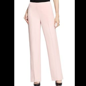 Vince Camuto pastel pink pleated wide leg slacks 4